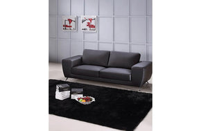 Torri Black Leather Sofa