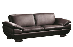 Enrico Brown Leather Sofa
