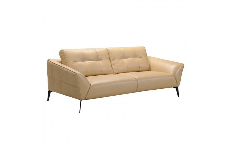 Divani Casa Forge 3 Piece Modern Beige Leather Sofa Set