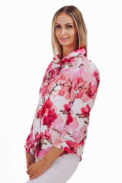Orchid Irish Linen Blouse
