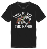 Voltron Talk To The Hand Men's Black T-Shirt Tee Shirt