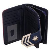 Captain Marvel Clutch Snap Zipper Wallet (Ships to U.S. only)