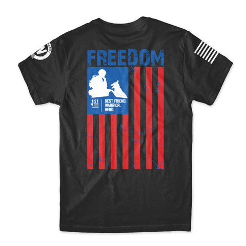 1st Foundation Freedom Flag Black T-Shirt by XCI Racing