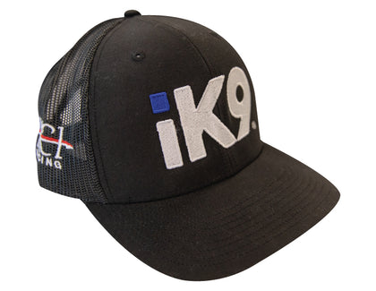 iK9 Trucker Mesh Snap-back Hat, Black