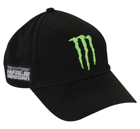 Hailie Deegan Monster Hat White Dog