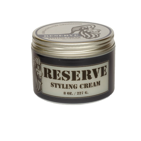 Eight ounce container of King & Country Grooming's RESERVE Matte Styling Cream. Made in Canada.