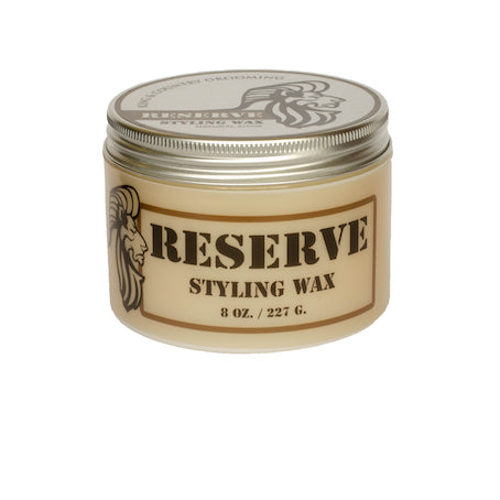 Eight ounce container of King & Country Grooming's RESERVE Matte Styling Wax. Made in Canada.