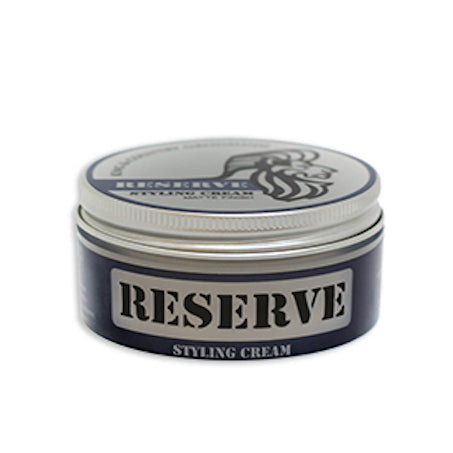 Two ounce container of King & Country Grooming's RESERVE Matte Styling Cream. Made in Canada.