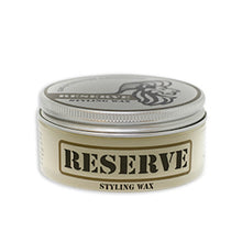 Load image into Gallery viewer, Two ounce container of King & Country Grooming's RESERVE Matte Styling Wax. Made in Canada.