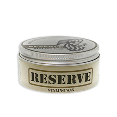 Two ounce container of King & Country Grooming's RESERVE Matte Styling Wax. Made in Canada.