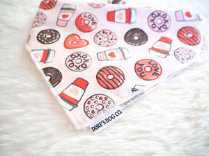 Coffee & Donuts Dog Bandana