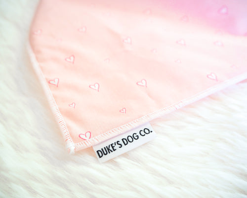 Soft Hearts Dog Bandana