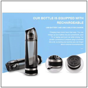 InnerLight Blue Rechargeable Alkalizing Hydrogen Water Bottle
