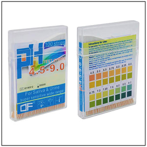 pH Test Strips - 100 Urine & Saliva Tests
