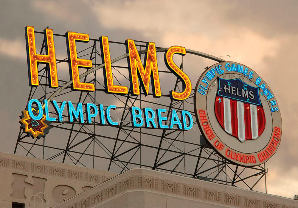 Helms olympic bread light sign