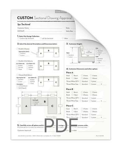 3PC Sectional Form