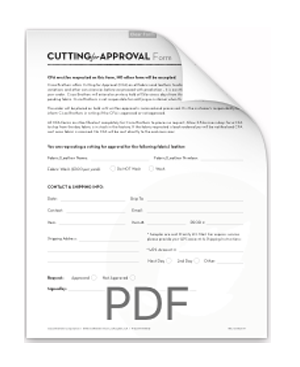 Cisco Cutting for Approval Form