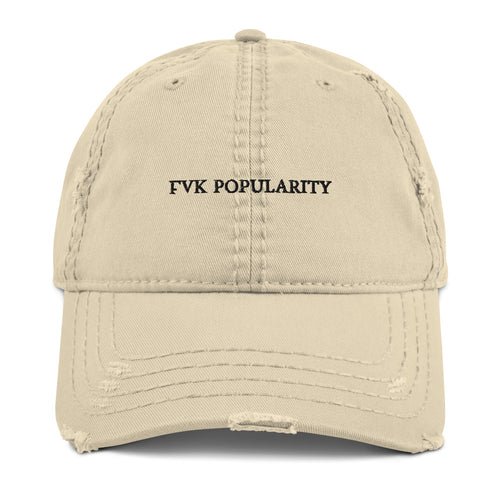 fvkpopularity Distressed Dad Hat