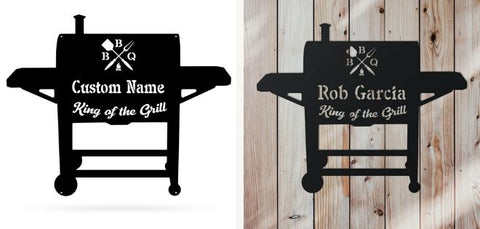King of the Grill Metal Wall Art
