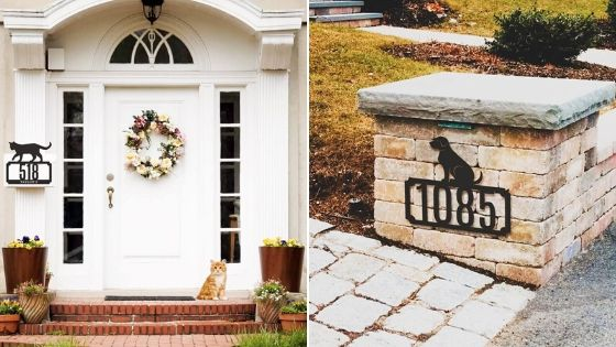 animal house number decor designs