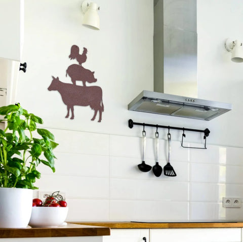 Farmyard Friends Wall Art