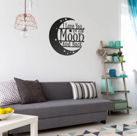 Love You To The Moon Wall Art - 2nd Ed