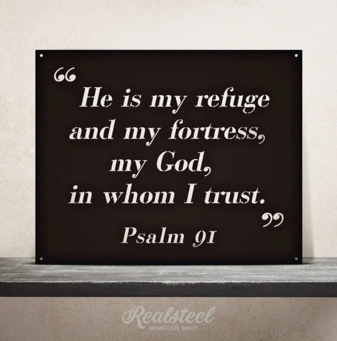 Psalm 91 Quote Wall Sign