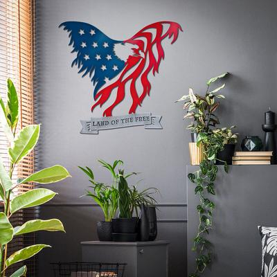 American Flag Eagle Wall Art