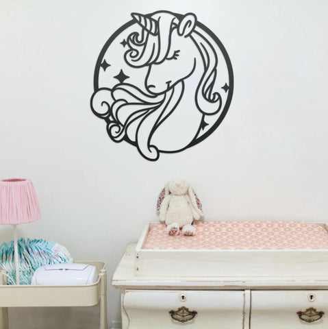 Magical Unicorn Metal Wall Art