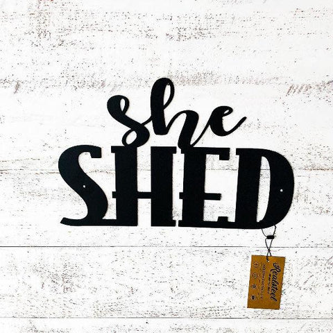 She Shed Wall Art by RealSteel
