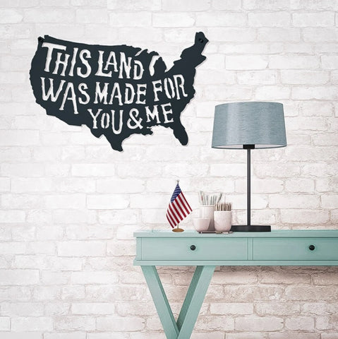 This Land Steel Wall Art