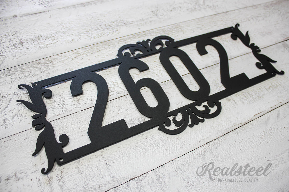 Home Number Monogram  - RealSteel Center
