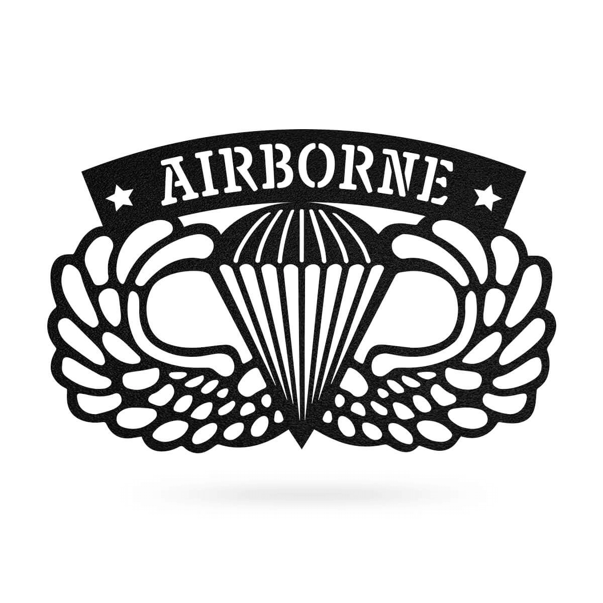 "Airborne Emblem Wall Décor 18""x11"" / Black - RealSteel Center"