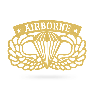 "Airborne Emblem Wall Décor 18""x11"" / Gold - RealSteel Center"