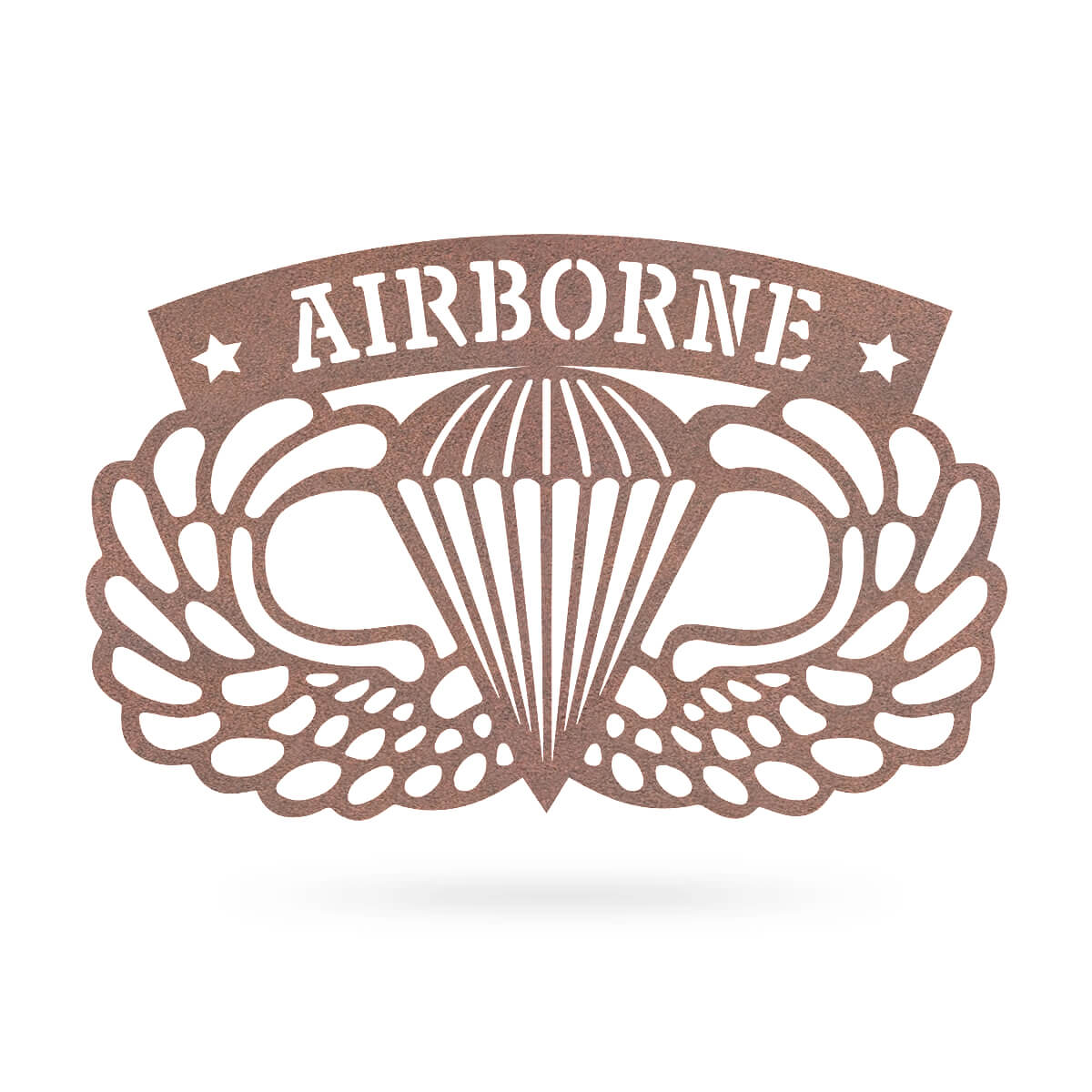 "Airborne Emblem Wall Décor 18""x11"" / Rust - RealSteel Center"
