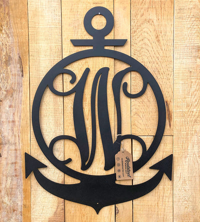 Anchor Initial Monogram  - RealSteel Center