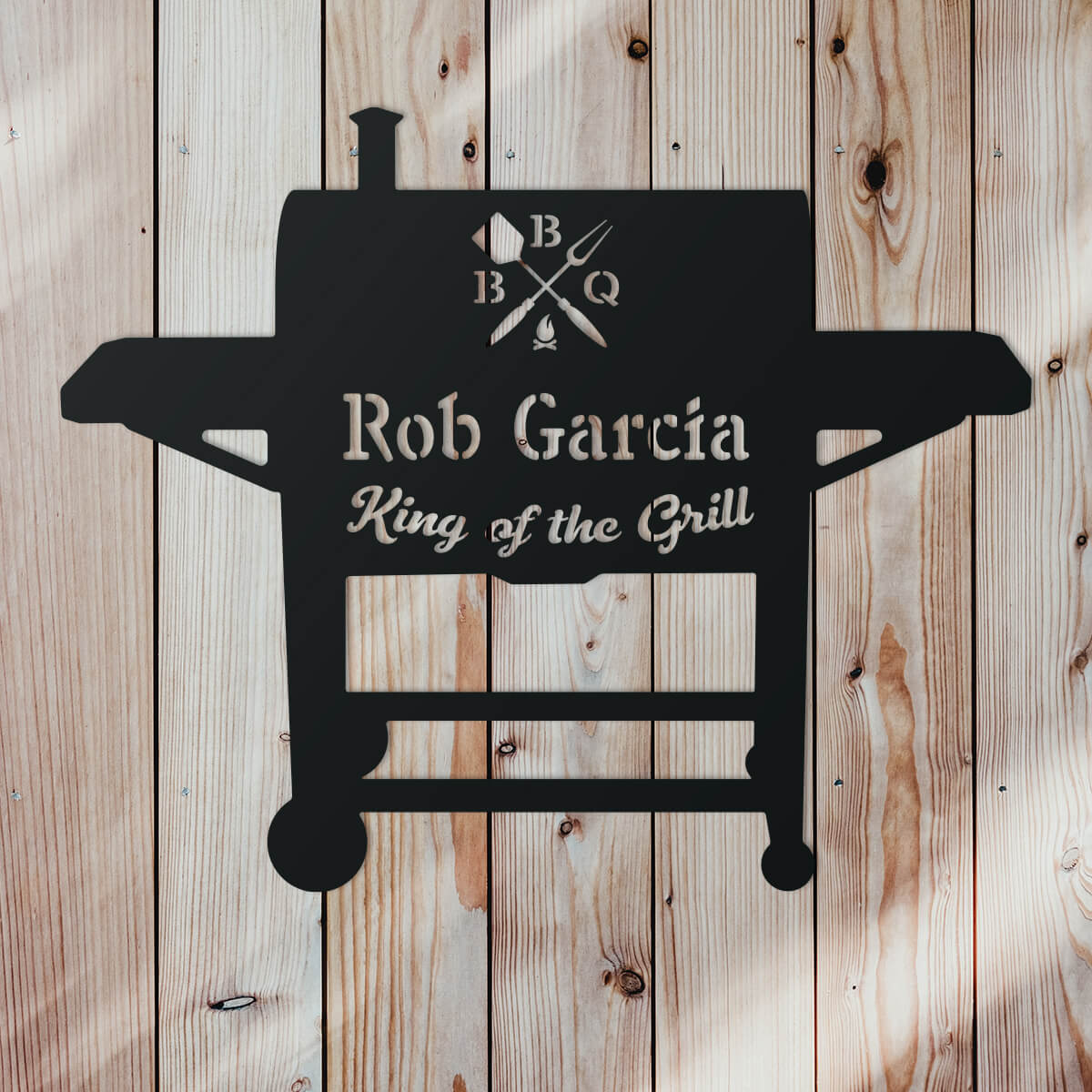 "BBQ Monogram 19""x24"" / Black - RealSteel Center"