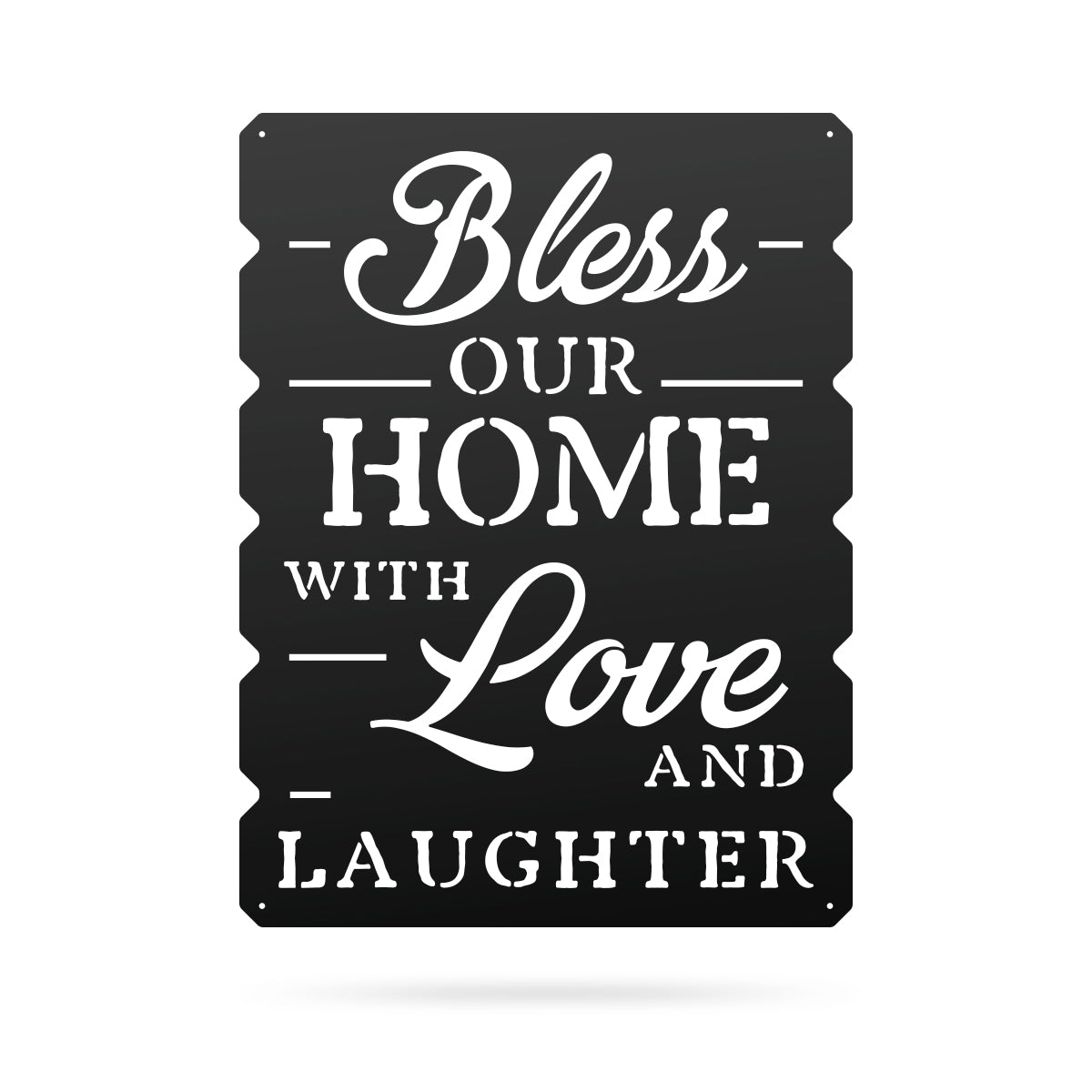 "Bless Our Home Wall Art 18""x24"" / Black - RealSteel Center"