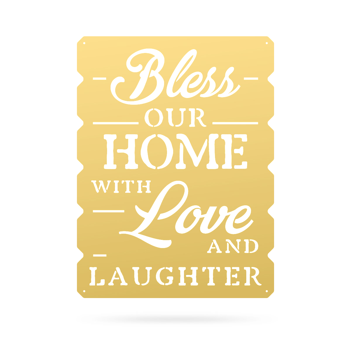 "Bless Our Home Wall Art 18""x24"" / Gold - RealSteel Center"