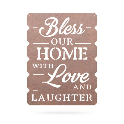 "Bless Our Home Wall Art 18""x24"" / Rust - RealSteel Center"