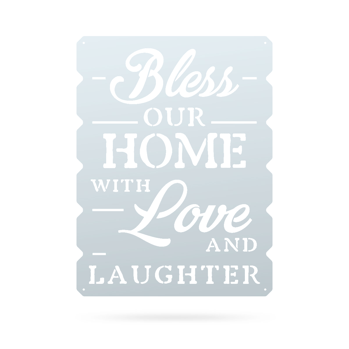 "Bless Our Home Wall Art 18""x24"" / Textured Silver - RealSteel Center"