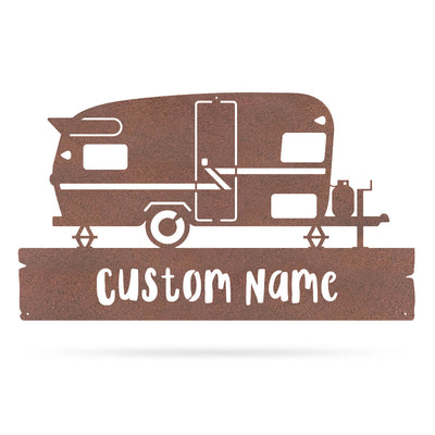 "Camper Monogram 11""x20"" / Rust - RealSteel Center"