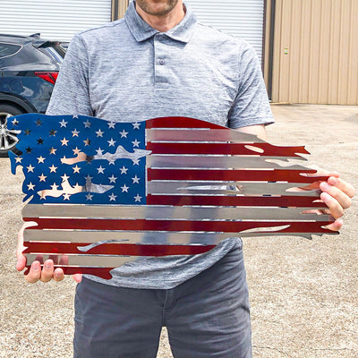 Distressed American Flag Wall Art  - RealSteel Center