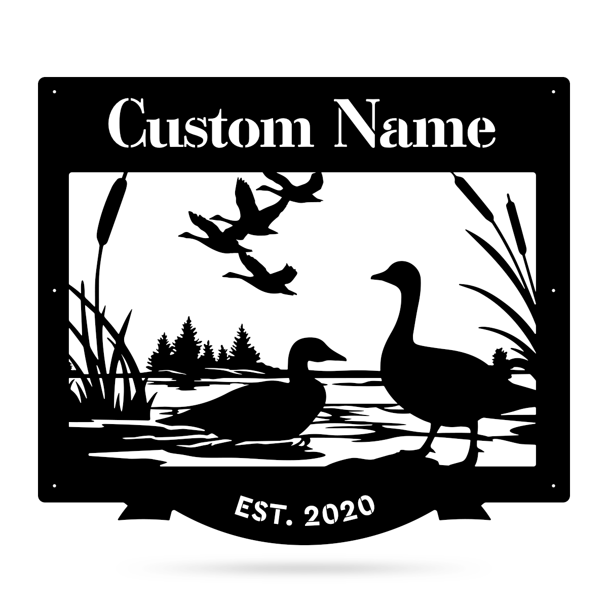 "Duck Pond Monogram 26""x30"" / Black - RealSteel Center"