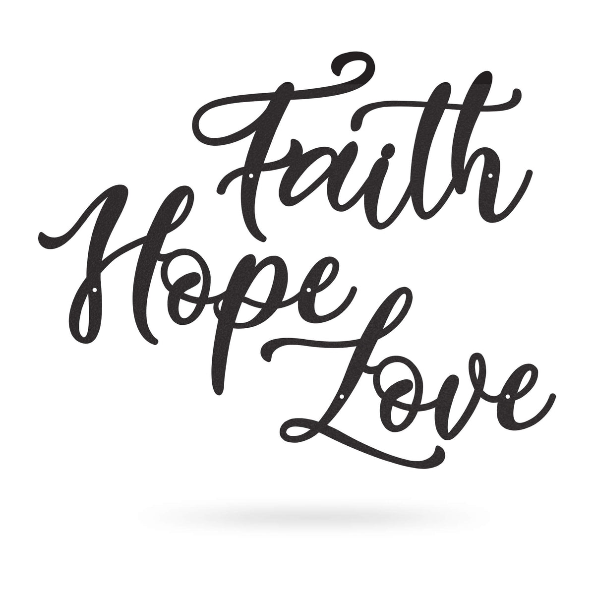 "Faith Hope Love 18"" / Black - RealSteel Center"