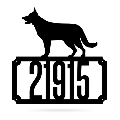 German Shepherd Home Number Monogram  - RealSteel Center