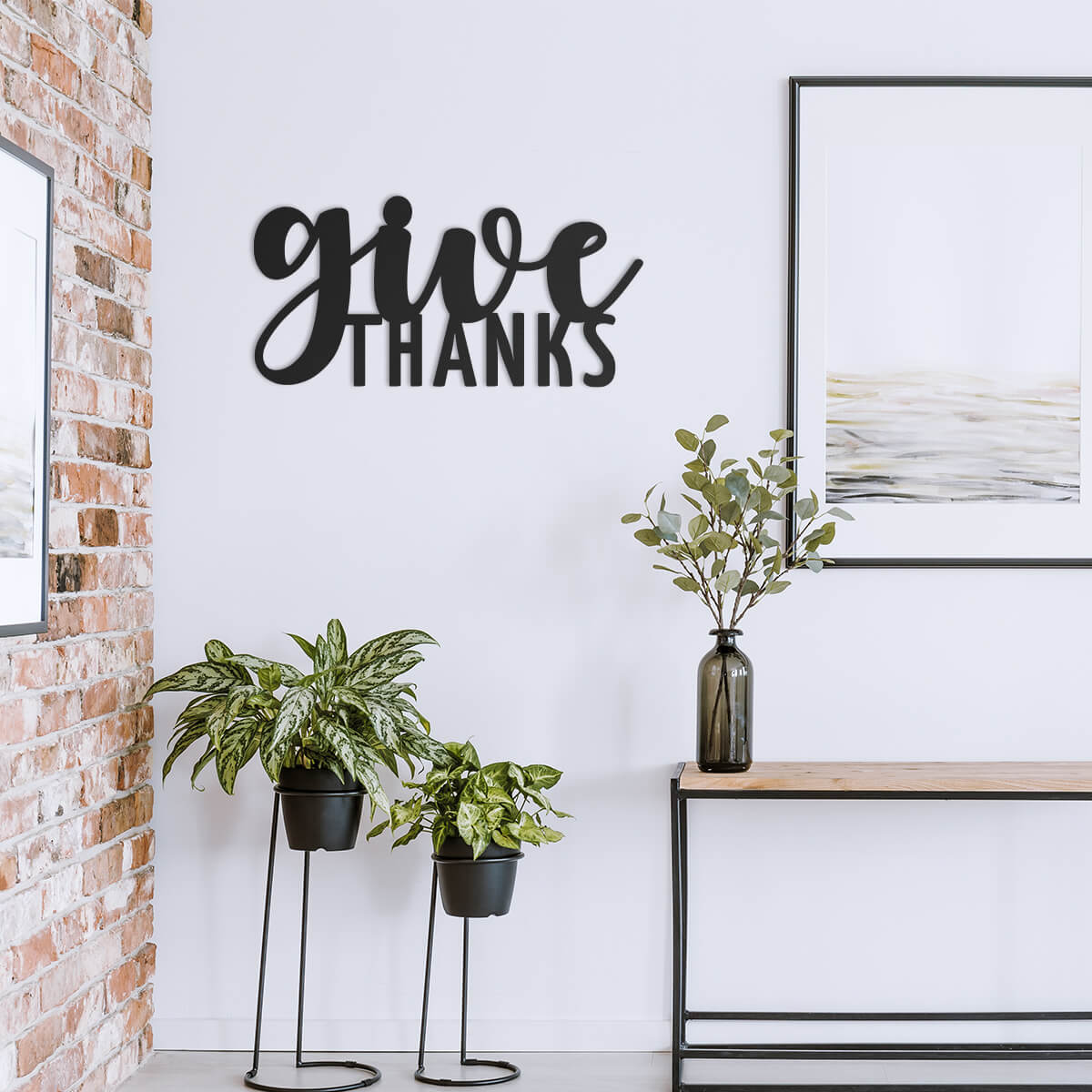 Give Thanks Wall Art  - RealSteel Center