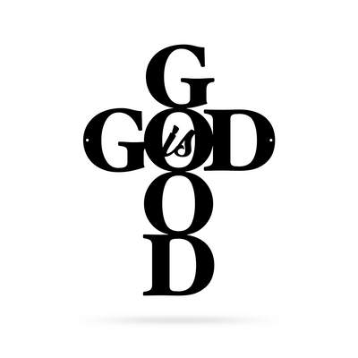 "God is Good Wall Art 9""x12"" / Black - RealSteel Center"