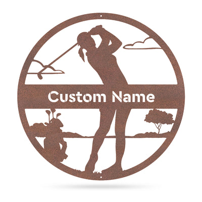"Golf Monogram - Female 18"" / Rust - RealSteel Center"