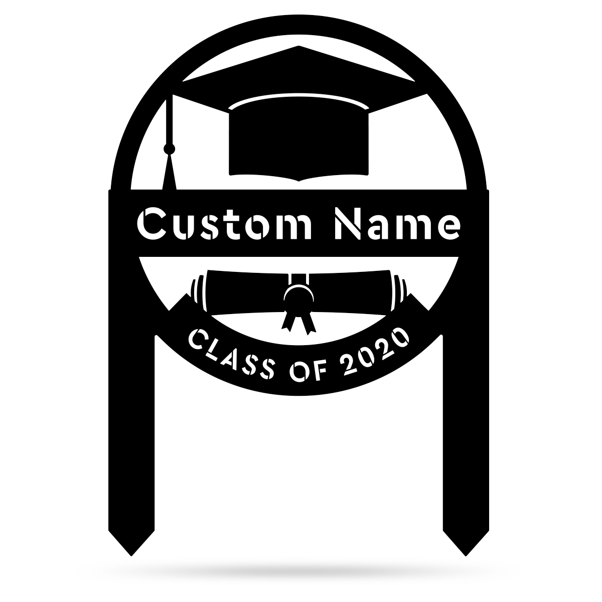 "Graduation Monogram Yard Sign 17""x24"" / Black - RealSteel Center"